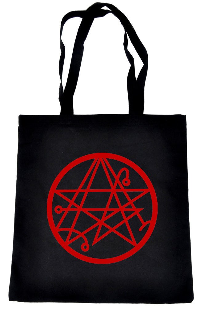 Necronomicon Gate Tote Book Bag Alchemy Symbol Handbag HP Lovecraft