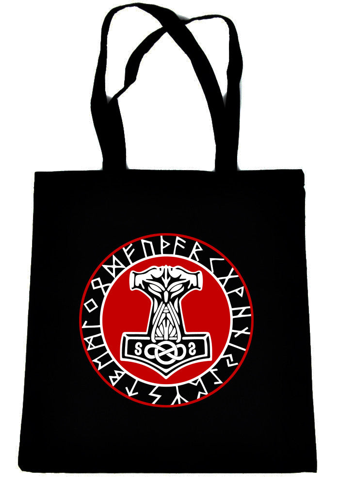 Norse Mythology Odin Viking Tote Book Bag Occult Clothing Handbag Mjolnir Hammer
