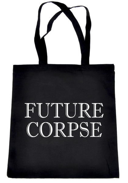 Future Corpse Tote Book Bag Alternative Clothing Handbag Funeral Cemetery