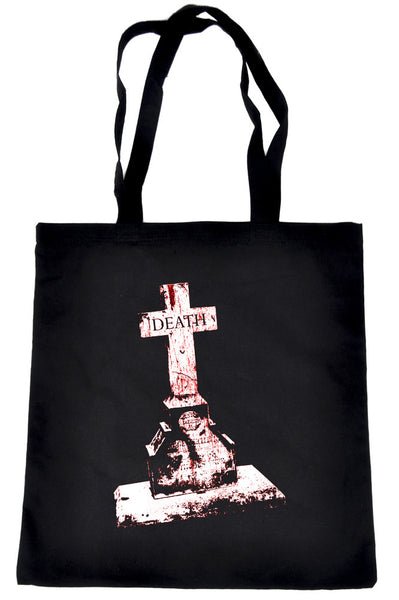 Tombstone of Death Cemetery Tote Book Bag Dark Alternative Clothing Handbag Gothic