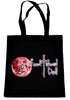 Dysfunctional Doll Original Logo on Black Tote Book Bag Gothic Clothing Handbag