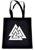Norse Triangle Knot Tote Book Bag Handbag The Valknut Odin's Slain Warriors