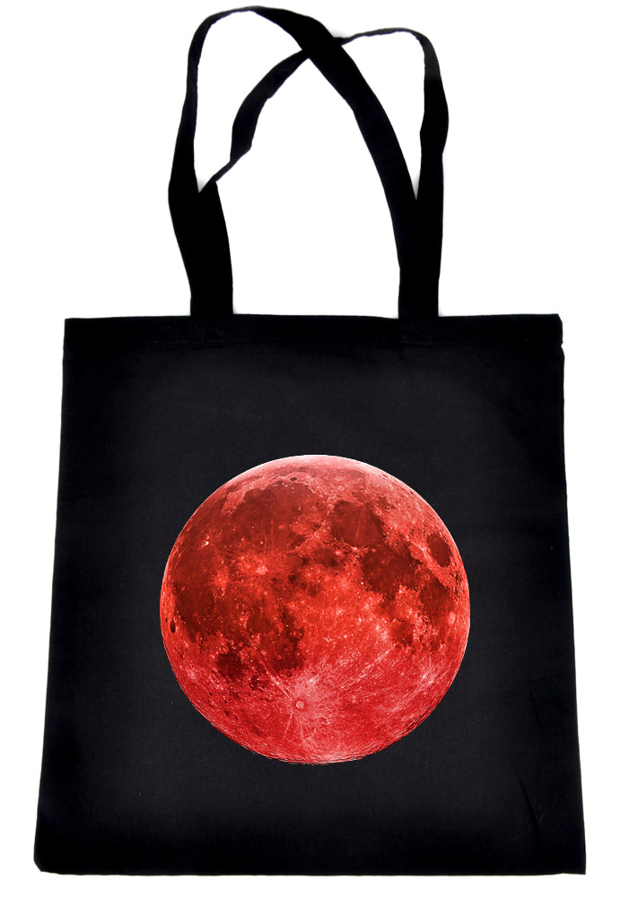Blood Red Full Moon Tote Book Bag Handbag Lunar Eclipse