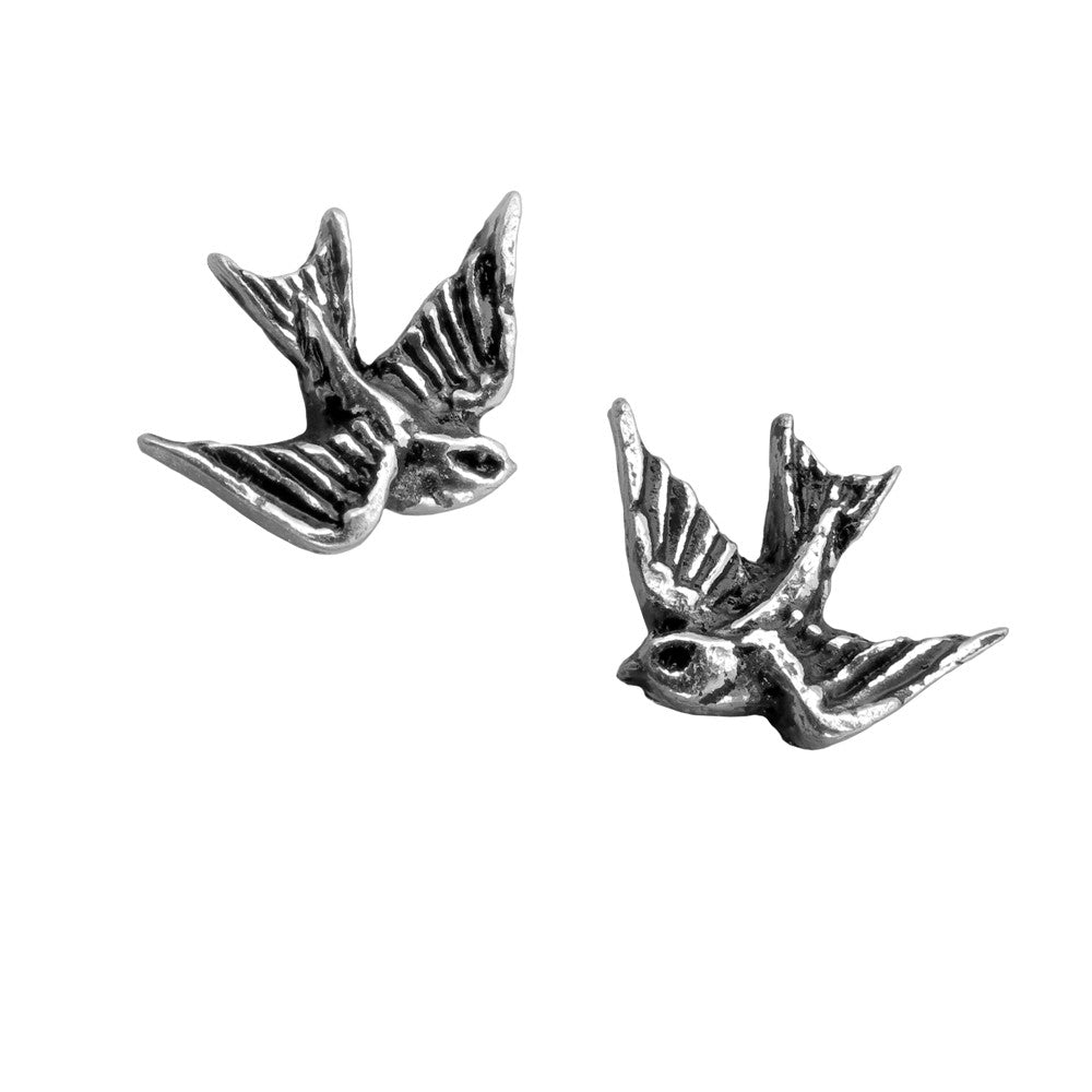 Alchemy Gothic Swallow Earrings Rockabilly Psychobilly