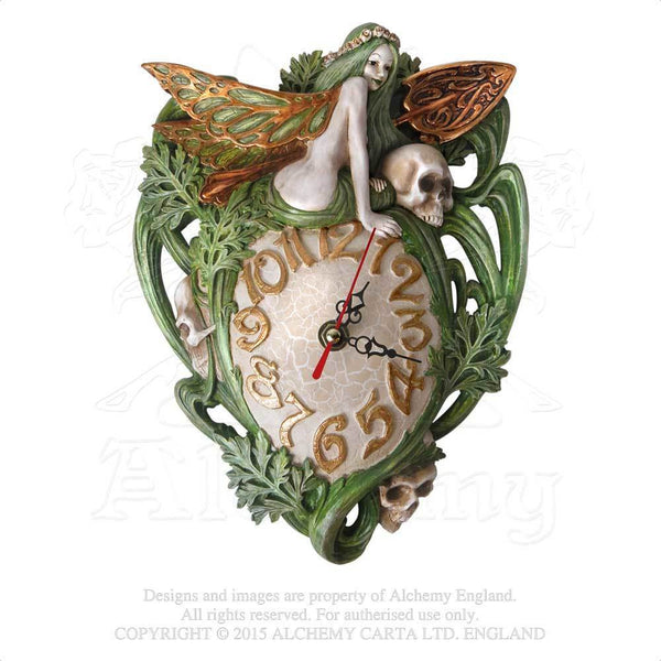 Alchemy Gothic The Vault Artemesia Absinthium Fairy Wall Clock