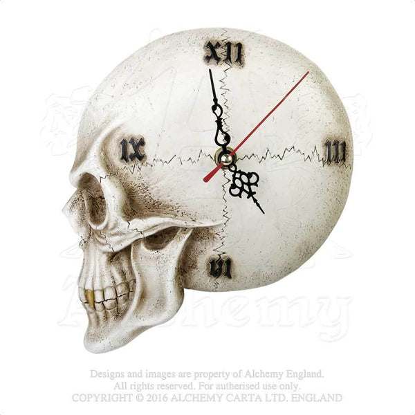 Alchemy Gothic The Vault Skull Wall Clock