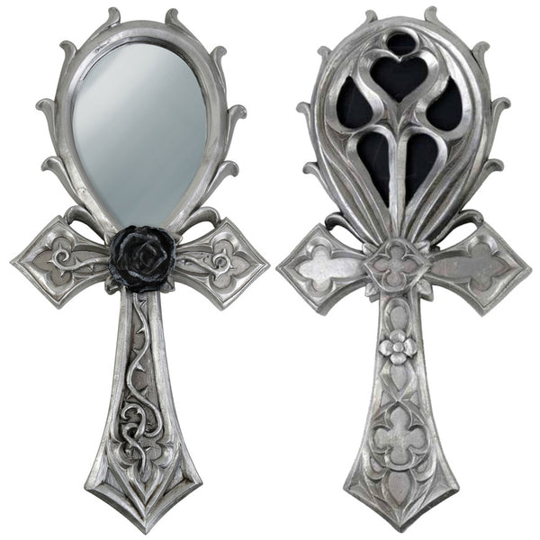 Alchemy Gothic The Vault Ankh Hand Mirror