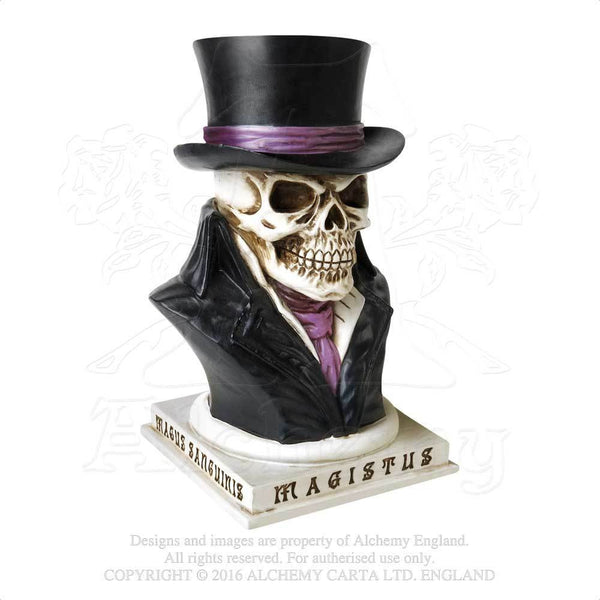 Alchemy Gothic The Vault Count Magistus Skull Money Box Bank