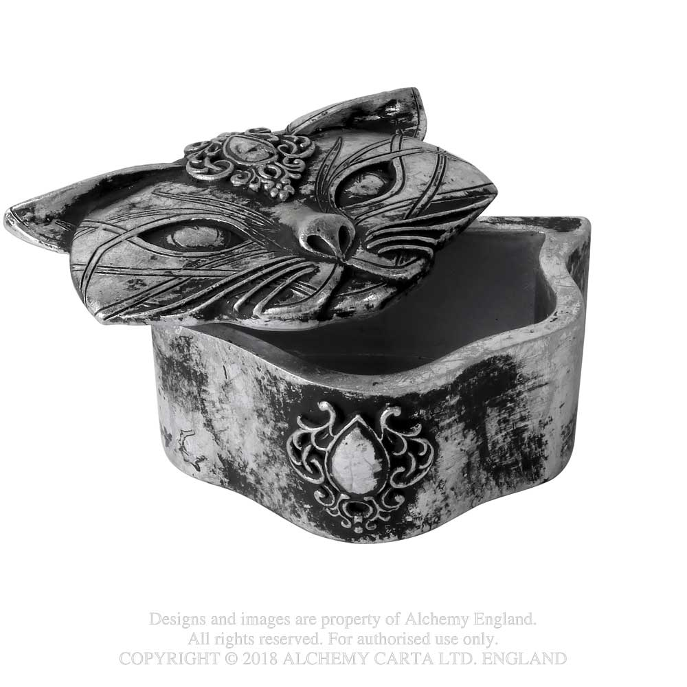 Alchemy Gothic Sacred Kitty Cat Trinket Box