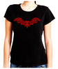 Wrought Iron Red Vampire Bat Women's Babydoll Shirt Gothic Clothing