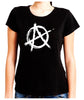 White Anarchy Punk Rock Women's Babydoll Shirt Top Gothic Clothing