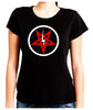 Inverted Pentagram Lightning Bolt Women's Babydoll Shirt Top Occult Clothing
