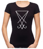 White Sigil Of Lucifer Women's Babydoll Shirt Top Occult Clothing