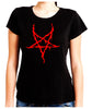 Red Thorn Jagged Inverted Pentagram Women's Babydoll Shirt Occult Clothing