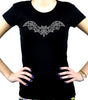 Wrought Iron Grey Bat Women's Babydoll Shirt Gothic Clothing