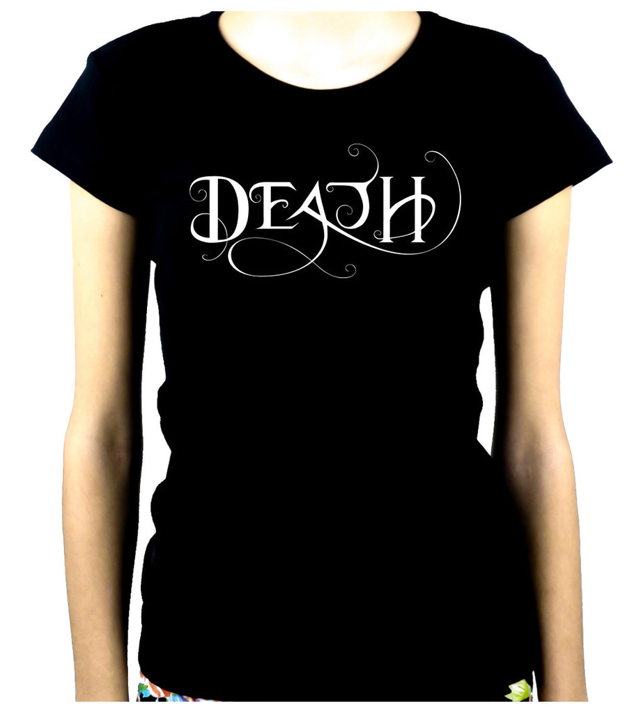 Death Being the End Women's Babydoll Shirt Occult Gothic Clothing Sandman