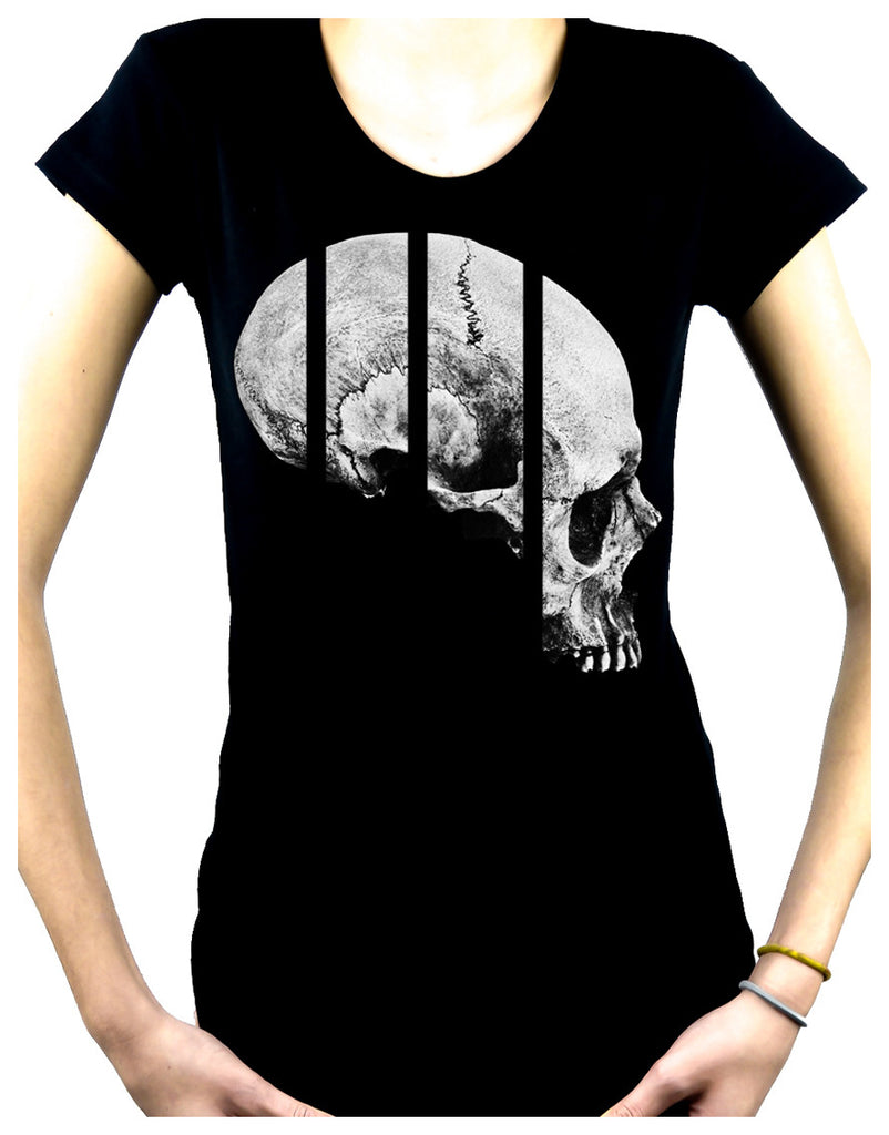 Medical Oddities Human Skull Women's Babydoll Shirt Occult Clothing