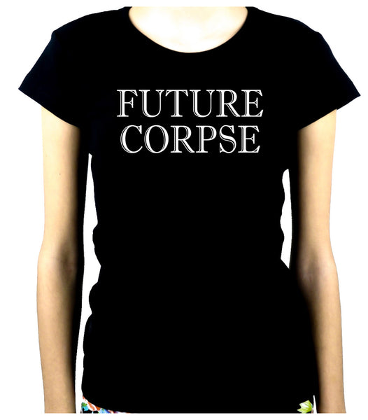 Future Corpse Women's Babydoll Shirt Alternative Clothing Cemetery Funeral
