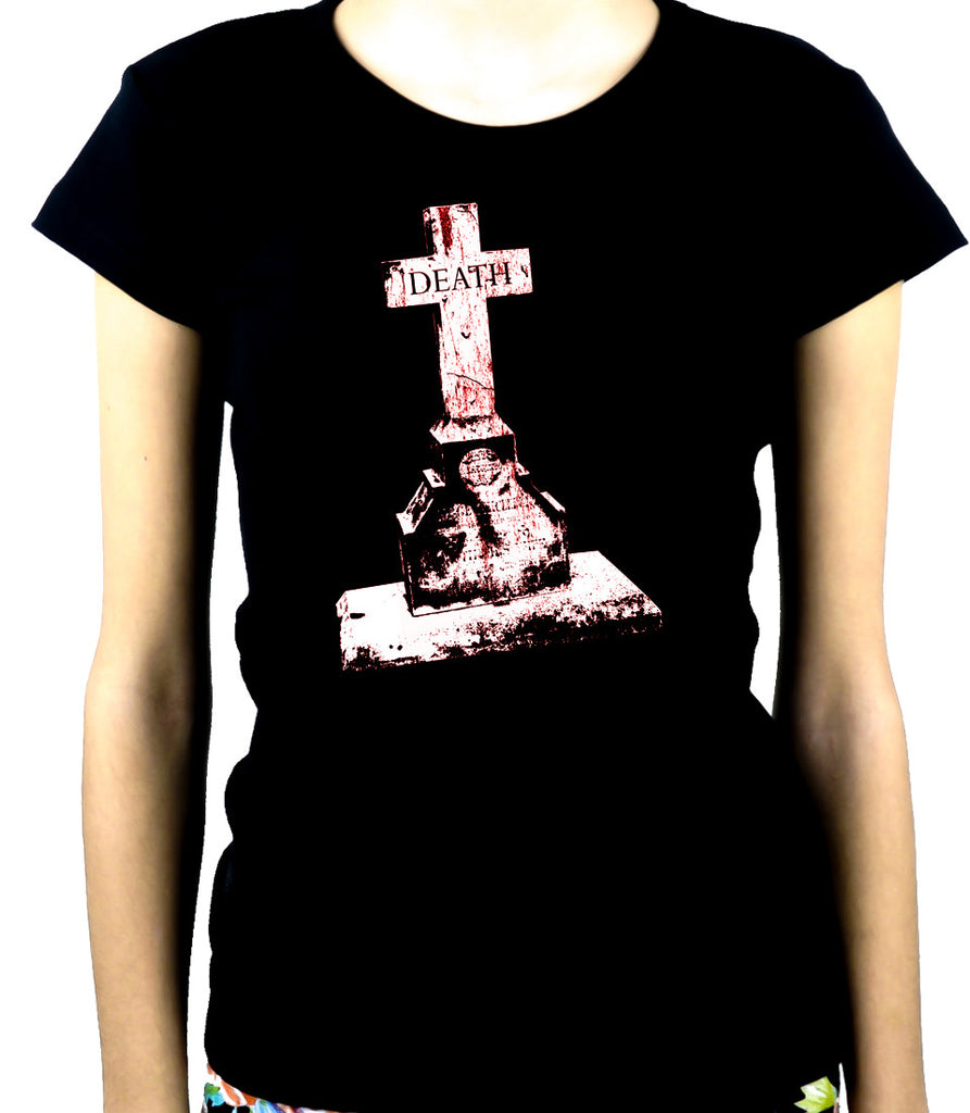 Tombstone of Death Cemetery Women's Babydoll Shirt Dark Gothic Clothing