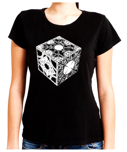 Puzzle Box Women's Babydoll Shirt Top Hellraiser Pinhead Horror
