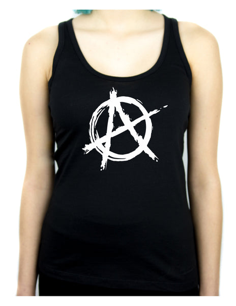 White Anarchy Punk Rock Back Tank Top Shirt