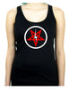 Inverted Pentagram Lightning Bolt Racer Back Tank Top Shirt Metal