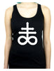 Crux Satanus Leviathan Cross Women's Racer Back Tank Top Shirt Black Sulphur