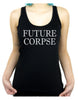 Future Corpse Women's Racer Back Tank Top Shirt Cemetery Funeral