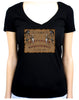 Occult Spirit Guide Ouija Board Women's V-Neck Shirt Top
