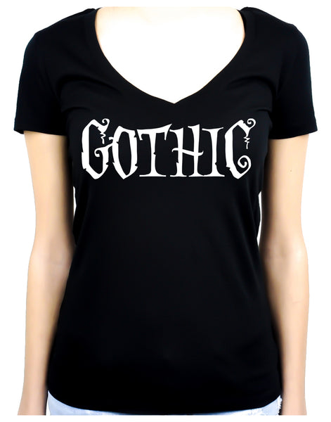 Gothic Way of Life Women's V-Neck Shirt Top Strange Unusual Spooky Creepy Dark Alternative Clothing