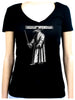 Black Death Plague Doctor Women's V-Neck Shirt with Bird Mask