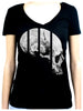 Medical Oddities Human Skull Women's V Neck Shirt Top Occult Clothing