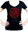Necronomicon Gate Alchemy Symbol Women's V Neck Shirt Occult Clothing HP Lovecraft