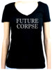 Future Corpse Women's V-Neck Shirt Alternative Clothing Cemetery Funeral