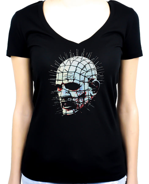 Pinhead Hellraiser Women's V-Neck Shirt / Top