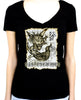 Necronomicon Demon Women's V-Neck Shirt Top Book of the Dead