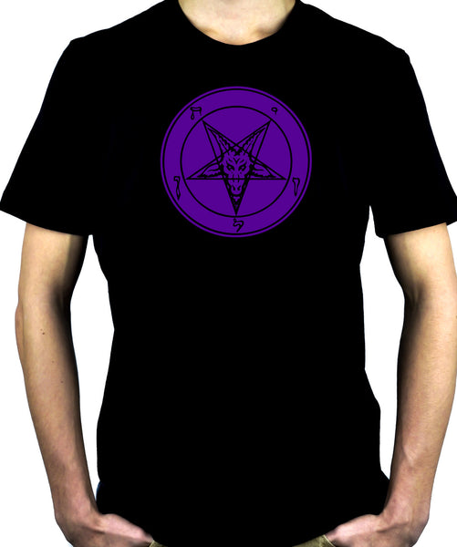 Purple Classic Satanic Baphomet T-Shirt Occult Clothing