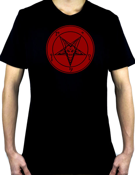 Red Classic Satanic Baphomet T-Shirt Occult Clothing