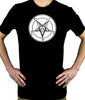 Solid White Classic Satanic Baphomet Men's T-Shirt Occult Clothing