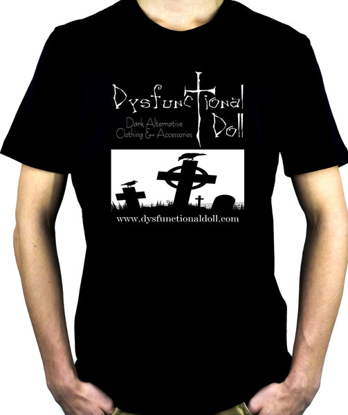 Dysfunctional Doll Official Logo Men's T-shirt Gothic Clothing