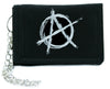 White Anarchy Sign Tri-fold Wallet Alternative Clothing Punk Rock