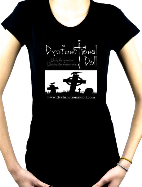 Dysfunctional Doll Official Logo Women's Babydoll T-shirt Gothic Clothing