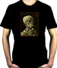 Skeleton Smoking Men's T-shirt Vincent Van Gogh Painting