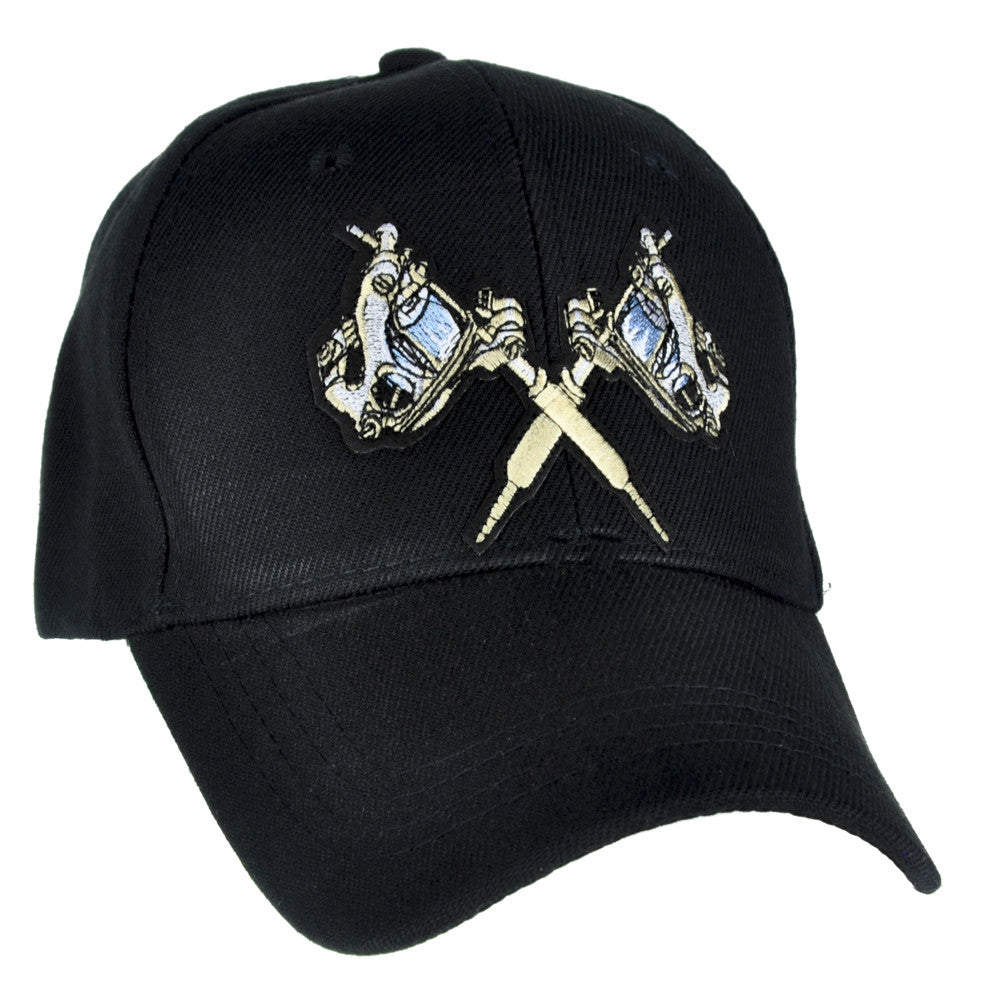 Double Tattoo Gun Hat Baseball Cap Alternative Clothing Ink