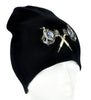 Double Tattoo Gun Beanie Gothic Knit Cap Alternative Clothing Ink