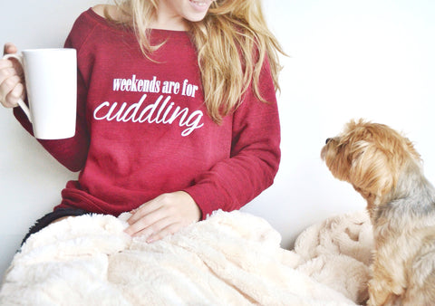 Weekends are for Cuddling Sweatshirt