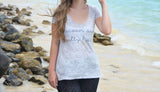 Ocean Air, Salty Hair Fit and Flare T-Shirt