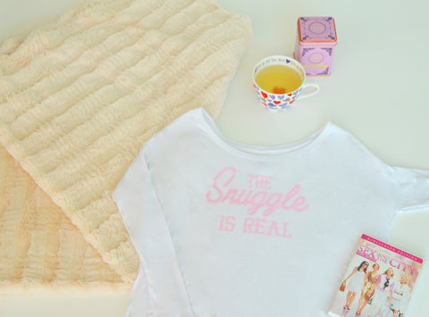 The Snuggle is Real Long Sleeve in Baby Pink