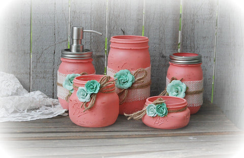 Mason Jar Bathroom Sets