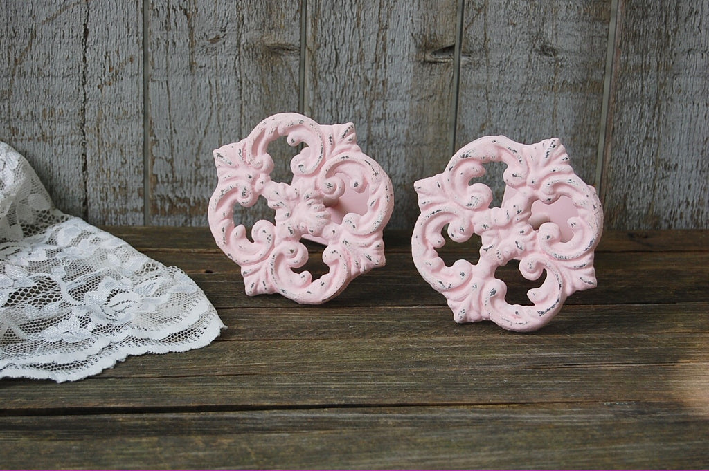 Pink drapery tie backs - The Vintage Artistry